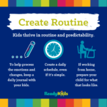 pandemic parenting advice - create routine